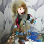 Кукла Фофуча в национальной зимней одежде